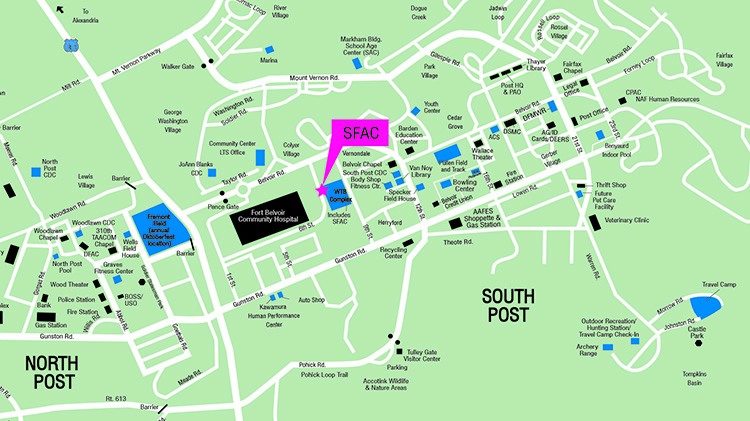 Fort Belvoir Map Army Community Service
