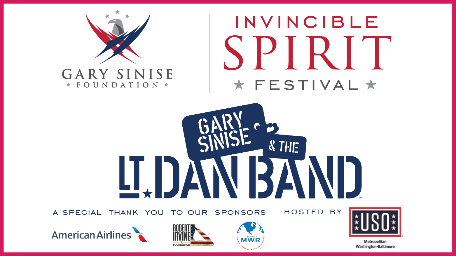 Invincible Spirit Festival: Featuring Gary Sinise & the Lt. Dan Band